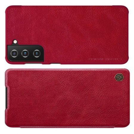 Тонкий Флип NILLKIN Qin Чехол Книжка для Samsung Galaxy S21 Plus / S21+ Красный