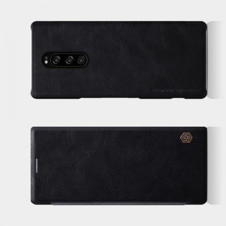 Тонкий Флип NILLKIN Qin Чехол Книжка для Sony Xperia 1 Черный