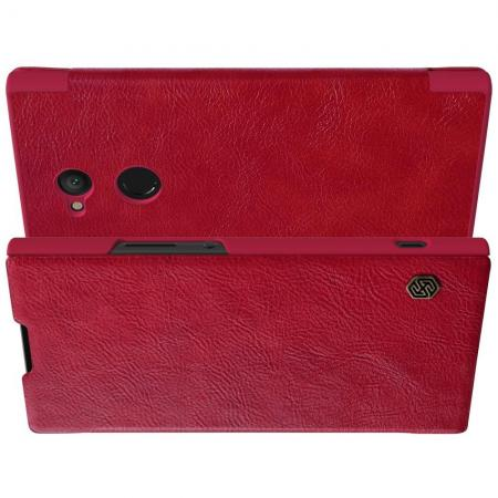 Тонкий Флип NILLKIN Qin Чехол Книжка для Sony Xperia XA2 Красный