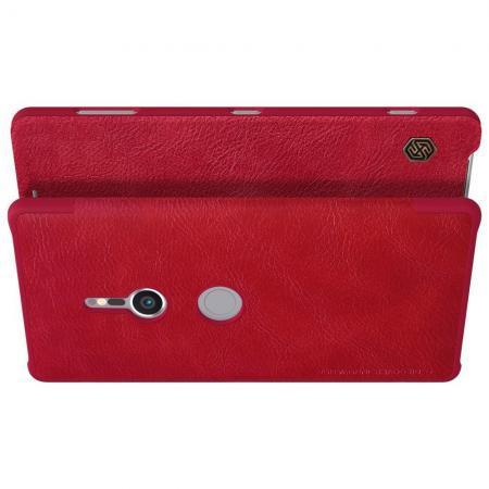 Тонкий Флип NILLKIN Qin Чехол Книжка для Sony Xperia XZ2 Красный