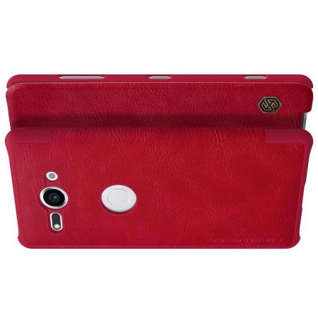 Тонкий Флип NILLKIN Qin Чехол Книжка для Sony Xperia XZ2 Compact Красный