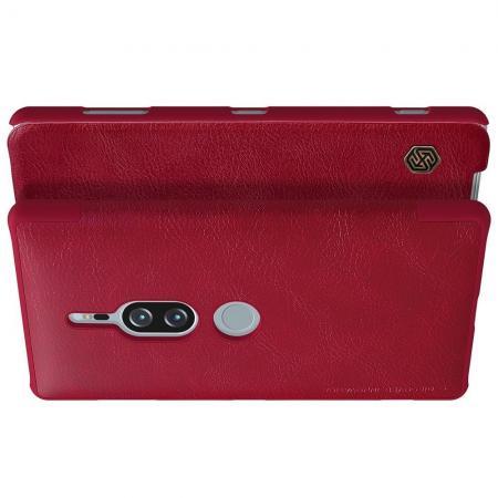 Тонкий Флип NILLKIN Qin Чехол Книжка для Sony Xperia XZ2 Premium Красный