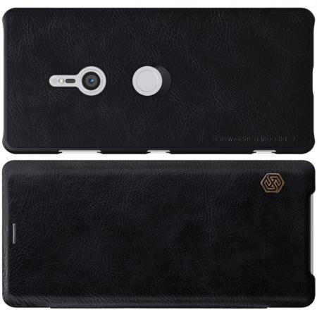 Тонкий Флип NILLKIN Qin Чехол Книжка для Sony Xperia XZ3 Черный