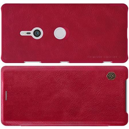 Тонкий Флип NILLKIN Qin Чехол Книжка для Sony Xperia XZ3 Красный