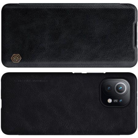 Тонкий Флип NILLKIN Qin Чехол Книжка для Xiaomi Mi 11 Черный