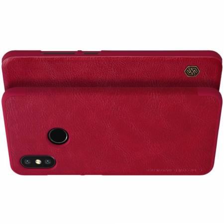 Тонкий Флип NILLKIN Qin Чехол Книжка для Xiaomi Mi 8 Красный