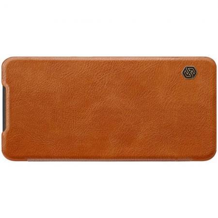 Тонкий Флип NILLKIN Qin Чехол Книжка для Xiaomi Mi 9 Коричневый