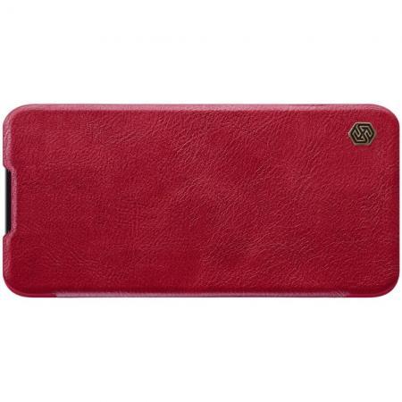 Тонкий Флип NILLKIN Qin Чехол Книжка для Xiaomi Mi CC9 Красный