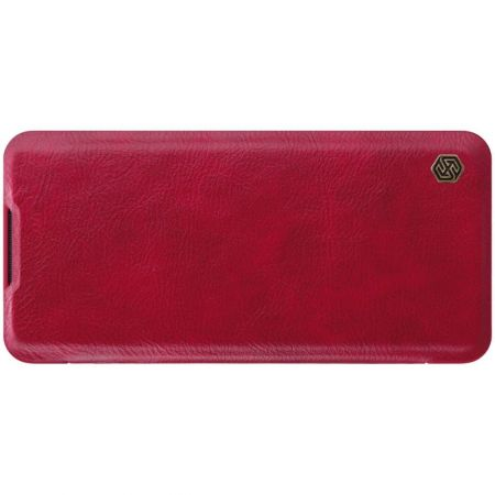 Тонкий Флип NILLKIN Qin Чехол Книжка для Xiaomi Mi Note 10 Красный