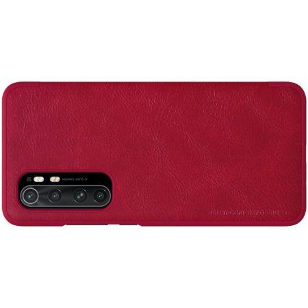 Тонкий Флип NILLKIN Qin Чехол Книжка для Xiaomi Mi Note 10 Lite Красный
