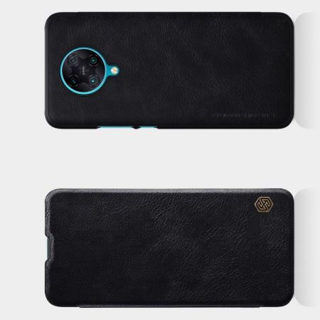 Тонкий Флип NILLKIN Qin Чехол Книжка для Xiaomi Poco F2 Pro Черный