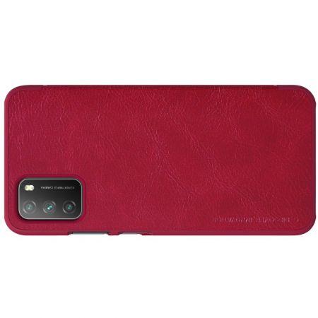 Тонкий Флип NILLKIN Qin Чехол Книжка для Xiaomi Poco M3 Красный