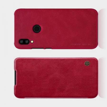 Тонкий Флип NILLKIN Qin Чехол Книжка для Xiaomi Redmi 7 Красный