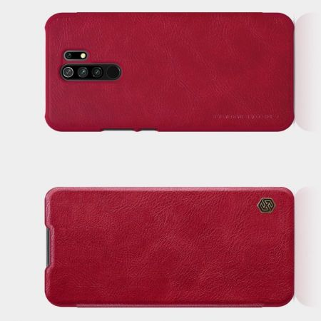 Тонкий Флип NILLKIN Qin Чехол Книжка для Xiaomi Redmi 9 Красный