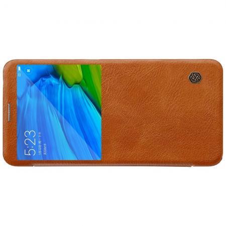 Тонкий Флип NILLKIN Qin Чехол Книжка для Xiaomi Redmi Note 5 Pro Коричневый