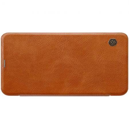 Тонкий Флип NILLKIN Qin Чехол Книжка для Xiaomi Redmi Note 6 / Note 6 Pro Коричневый