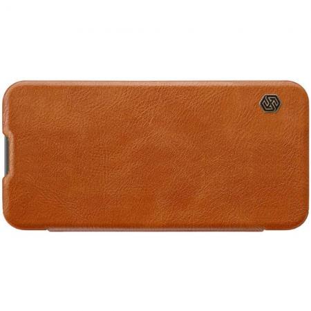 Тонкий Флип NILLKIN Qin Чехол Книжка для Xiaomi Redmi Note 7 / Note 7 Pro Коричневый