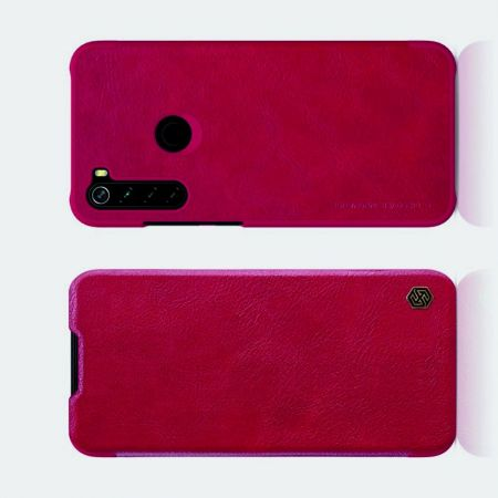 Тонкий Флип NILLKIN Qin Чехол Книжка для Xiaomi Redmi Note 8 Красный