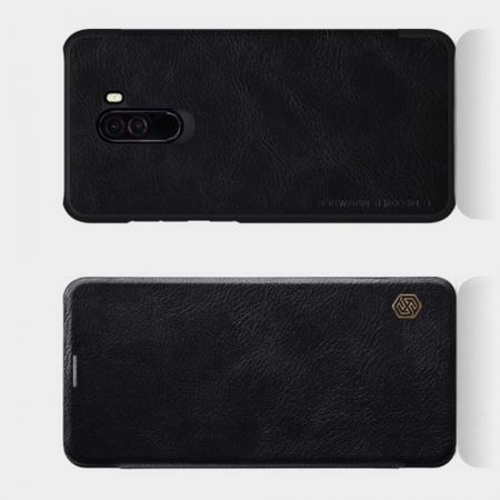 Тонкий Флип NILLKIN Qin Чехол Книжка для Xiaomi Redmi Note 8 Pro Черный