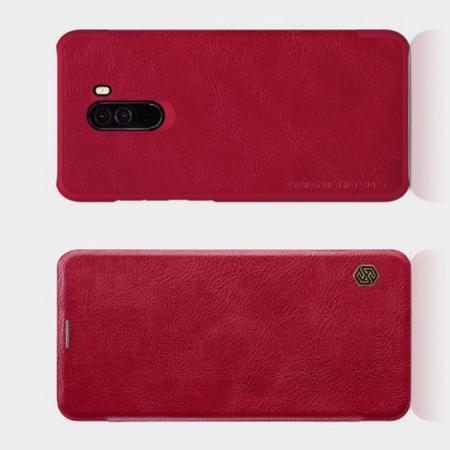Тонкий Флип NILLKIN Qin Чехол Книжка для Xiaomi Redmi Note 8 Pro Красный