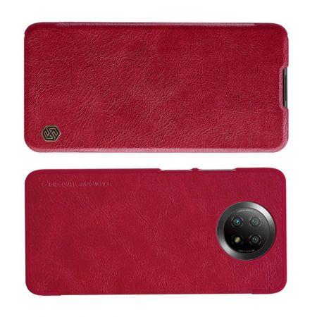 Тонкий Флип NILLKIN Qin Чехол Книжка для Xiaomi Redmi Note 9T Красный