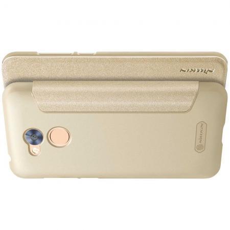 Тонкий Флип NILLKIN Sparkle Горизонтальный Боковой Чехол Книжка для Huawei Honor 6A Золотой