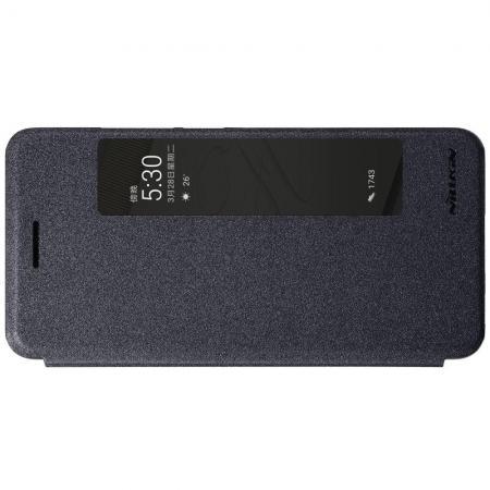 Тонкий Флип NILLKIN Sparkle Горизонтальный Боковой Чехол Книжка для Huawei P10 Plus Серый