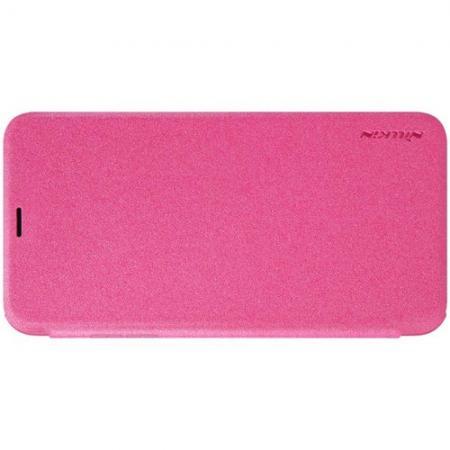 Тонкий Флип NILLKIN Sparkle Горизонтальный Боковой Чехол Книжка для iPhone XS Max Розовый