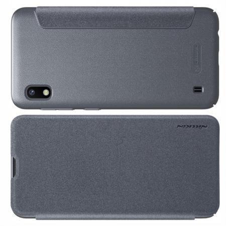 Тонкий Флип NILLKIN Sparkle Горизонтальный Боковой Чехол Книжка для Samsung Galaxy A10 Серый