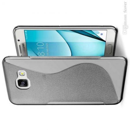 Силиконовый с Рисунком Гель Чехол для Samsung Galaxy A3 2017 SM-A320F Серый