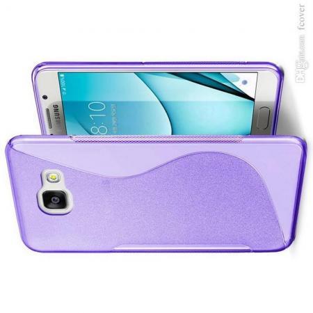 Силиконовый с Рисунком Гель Чехол для Samsung Galaxy A3 2017 SM-A320F Фиолетовый