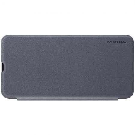 Тонкий Флип NILLKIN Sparkle Горизонтальный Боковой Чехол Книжка для Samsung Galaxy A30 / A20 Серый