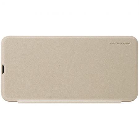 Тонкий Флип NILLKIN Sparkle Горизонтальный Боковой Чехол Книжка для Samsung Galaxy A30 / A20 Золотой