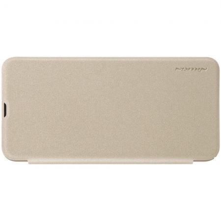 Тонкий Флип NILLKIN Sparkle Горизонтальный Боковой Чехол Книжка для Samsung Galaxy A50 Золотой