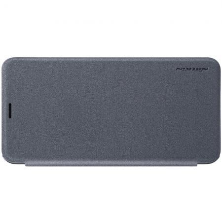 Тонкий Флип NILLKIN Sparkle Горизонтальный Боковой Чехол Книжка для Samsung Galaxy J6 Plus 2018 SM-J610F Серый