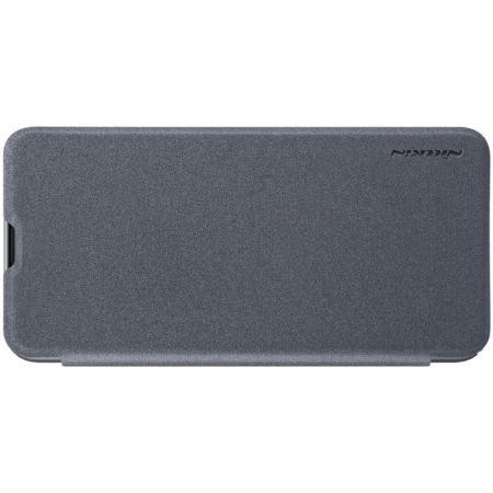 Тонкий Флип NILLKIN Sparkle Горизонтальный Боковой Чехол Книжка для Samsung Galaxy M20 Серый