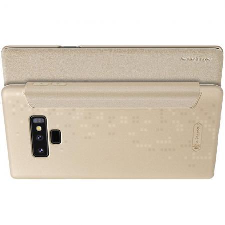 Тонкий Флип NILLKIN Sparkle Горизонтальный Боковой Чехол Книжка для Samsung Galaxy Note 9 Золотой