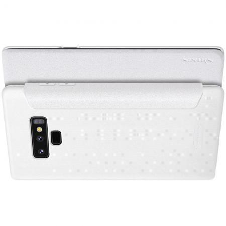 Тонкий Флип NILLKIN Sparkle Горизонтальный Боковой Чехол Книжка для Samsung Galaxy Note 9 Белый