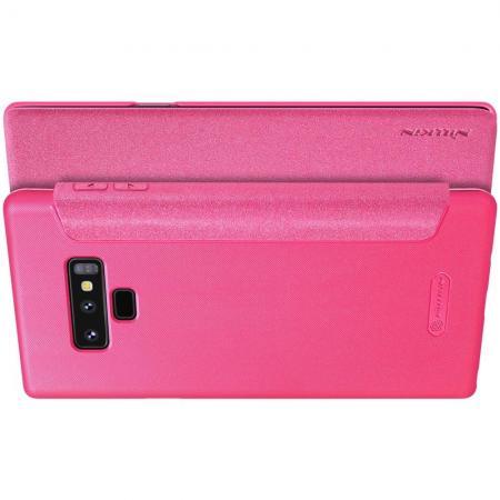 Тонкий Флип NILLKIN Sparkle Горизонтальный Боковой Чехол Книжка для Samsung Galaxy Note 9 Розовый