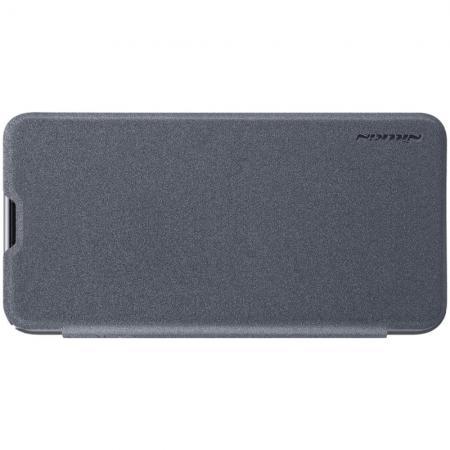 Тонкий Флип NILLKIN Sparkle Горизонтальный Боковой Чехол Книжка для Samsung Galaxy S10e Серый