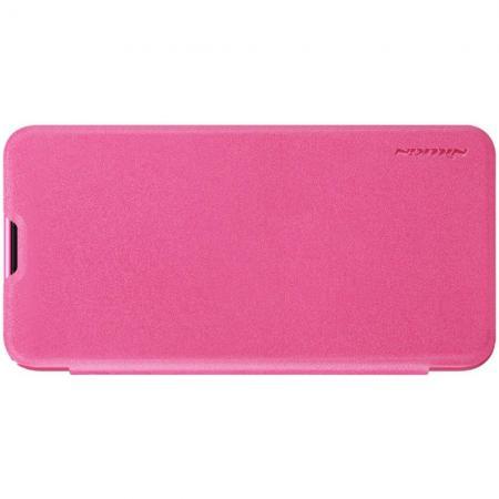 Тонкий Флип NILLKIN Sparkle Горизонтальный Боковой Чехол Книжка для Samsung Galaxy S10e Розовый