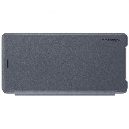 Тонкий Флип NILLKIN Sparkle Горизонтальный Боковой Чехол Книжка для Sony Xperia XZ2 Серый
