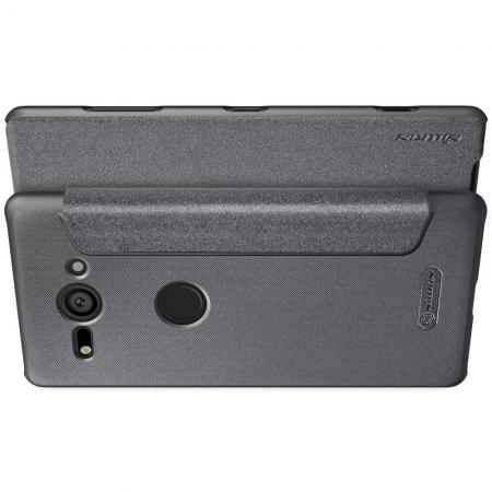 Тонкий Флип NILLKIN Sparkle Горизонтальный Боковой Чехол Книжка для Sony Xperia XZ2 Compact Серый