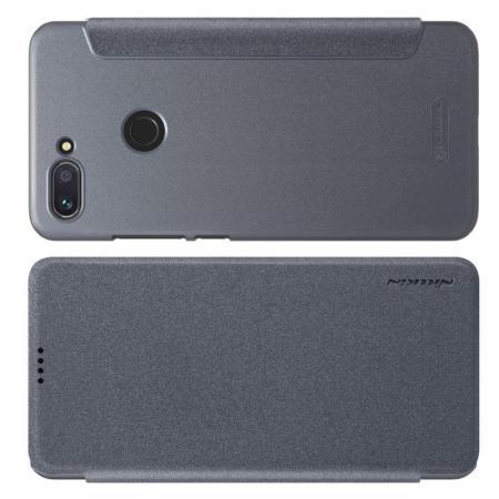 Тонкий Флип NILLKIN Sparkle Горизонтальный Боковой Чехол Книжка для Xiaomi Mi 8 Lite Серый