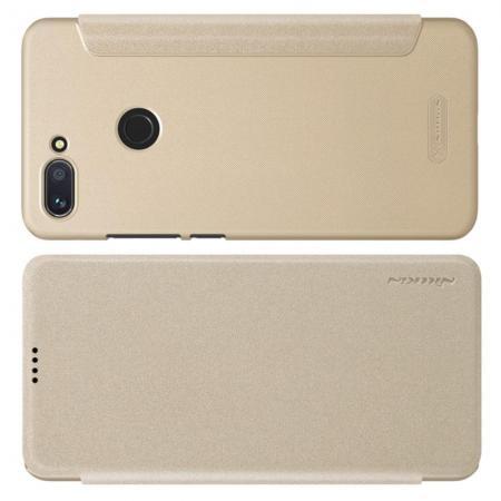 Тонкий Флип NILLKIN Sparkle Горизонтальный Боковой Чехол Книжка для Xiaomi Mi 8 Lite Золотой