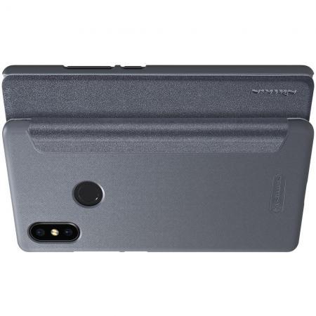 Тонкий Флип NILLKIN Sparkle Горизонтальный Боковой Чехол Книжка для Xiaomi Mi 8 SE Серый