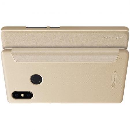 Тонкий Флип NILLKIN Sparkle Горизонтальный Боковой Чехол Книжка для Xiaomi Mi 8 SE Золотой
