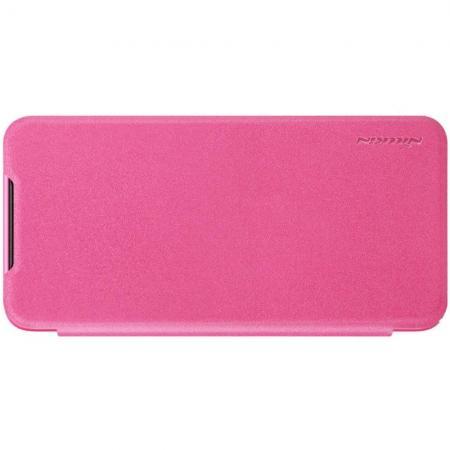 Тонкий Флип NILLKIN Sparkle Горизонтальный Боковой Чехол Книжка для Xiaomi Mi 9 Розовый