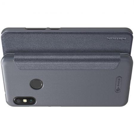 Тонкий Флип NILLKIN Sparkle Горизонтальный Боковой Чехол Книжка для Xiaomi Mi A2 Lite / Redmi 6 Pro Серый