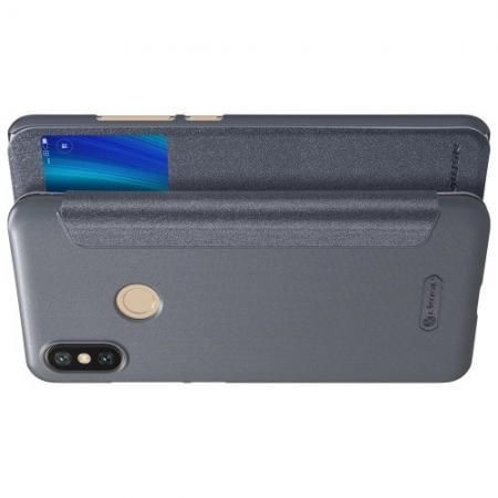 Тонкий Флип NILLKIN Sparkle Горизонтальный Боковой Чехол Книжка для Xiaomi Mi A2 / Mi 6X Серый
